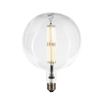 Edison žiarovka XXL GLOBO s čírym sklom – 12W, E27, Stmievateľná, 1300lm