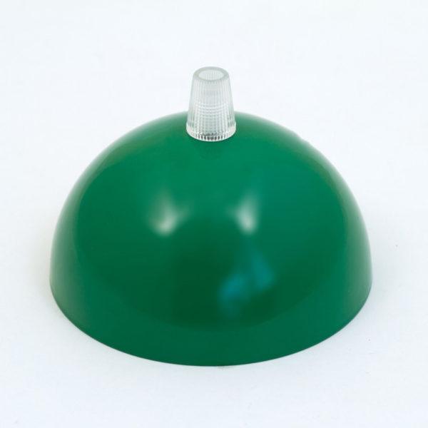 Kovová stropná rozeta s priemerom 10 cm, zelená farba.