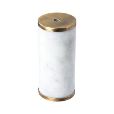 Luxusná mramorová objímka E27 s bakelitovou vložkou biela:mosádzna farba