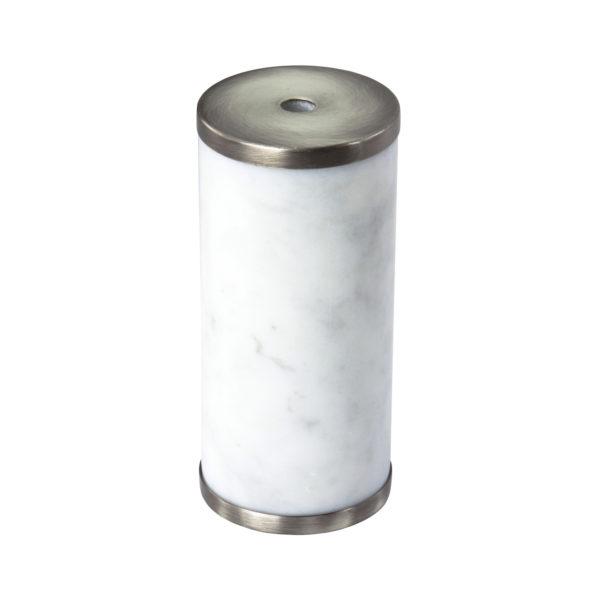 Luxusná mramorová objímka E27 s bakelitovou vložkou biela:titánová farba