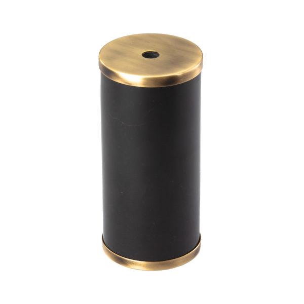 Luxusná mramorová objímka E27 s bakelitovou vložkou čierna/mosádzna farba | Amarcords
