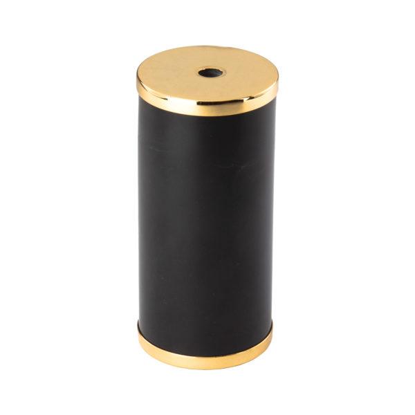 Luxusná mramorová objímka E27 s bakelitovou vložkou čierna:zlatá farba   Amarcords