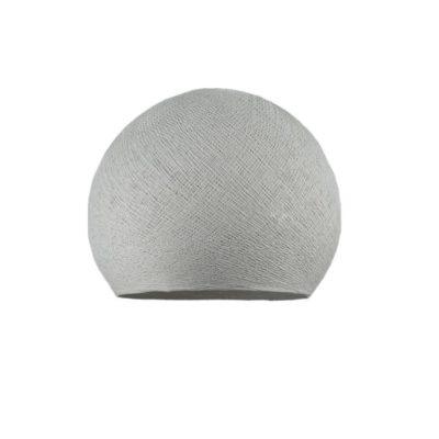 Ručne vyrobené tienidlo z polyesterového vlákna, 25cm, perlovo šedá farba