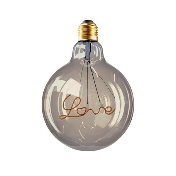 Edison Soft žiarovka pre závesné lampy s dymovým sklom, Love, E27, 70lm, 5W, Teplá biela