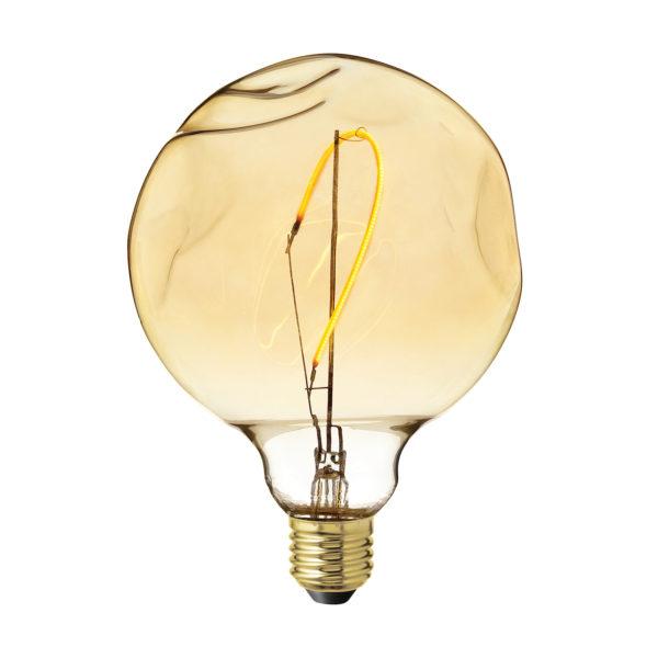 LED Žiarovka CURVED so zlatistým sklom, E27, 130lm, 4W, Teplá biela, stmievateľná | Amarcords