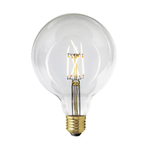 LED Žiarovka LIGHT SPHERE s čírym sklom, E27, 400lm, 4W, Teplá biela, stmievateľná