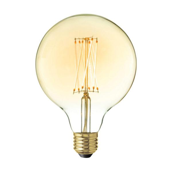 LED Žiarovka NEW SPHERE so zlatistým sklom, E27, 220lm, 4W, Teplá biela, stmievateľná..