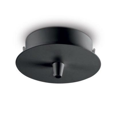 Kovová stropná rozeta pre 1 svietidlo, okrúhla v čiernej farbe | Ideal Lux
