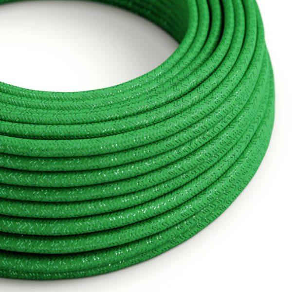 Kábel s trblietavým povrchom, Umelý hodváb, Zelená farba