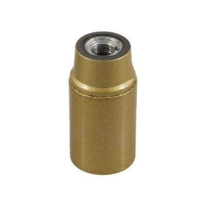Lakovaná bakelitová objímka E14 • zlatá
