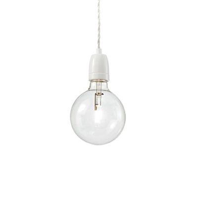 Porcelánové závesné svietidlo KLAUS SP1 v bielej farbe