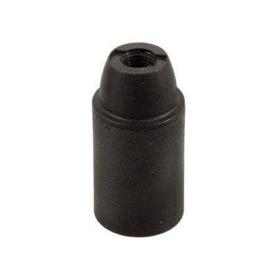 Termoplastová objímka E14 v čiernej farbe