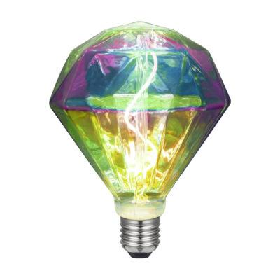 Filamentová LED žiarovka - DIAMANTE - 3W, E27, Stmievateľná, 2000K | Daylight Italia