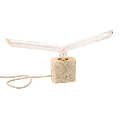 Handmade-stolová-lampa-SIMPLE-CREAM-SQUARED-vyrobené-z-recyklovaného-papiera