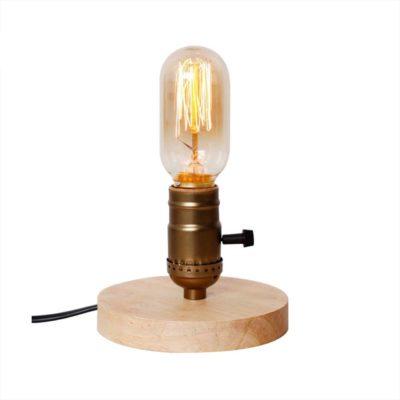 Historická-stolová-lampa-vyrobená-z-dreva-so-stmievačom