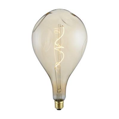 Vintage Filament žiarovka ELEGANCE A165, zlatá - 5W, E27, 250lm, Stmievateľná, Teplá biela