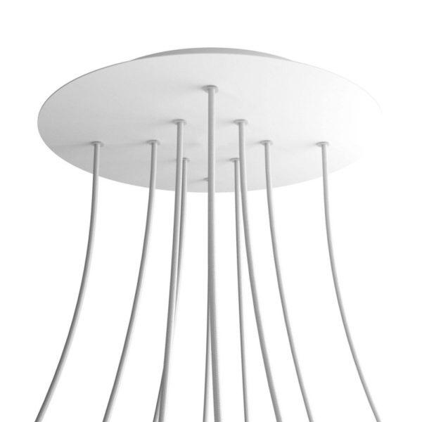 XXL Okrúhla kovová stropná rozeta s priemerom 40 cm a 10 otvormi