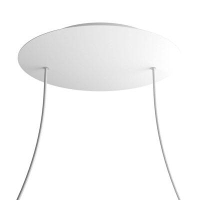 XXL Okrúhla kovová stropná rozeta s priemerom 40 cm a 2 otvormi