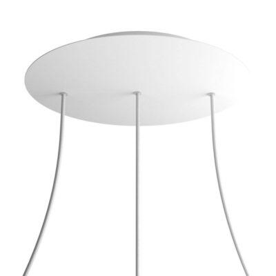 XXL Okrúhla kovová stropná rozeta s priemerom 40 cm a 3 otvormi