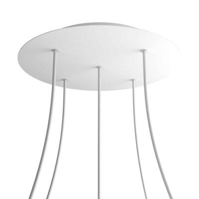 XXL Okrúhla kovová stropná rozeta s priemerom 40 cm a 5 otvormi