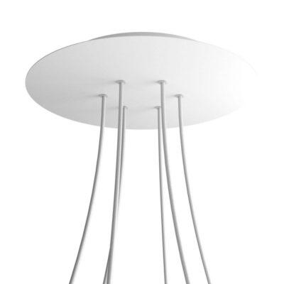 XXL Okrúhla kovová stropná rozeta s priemerom 40 cm a 6 otvormi