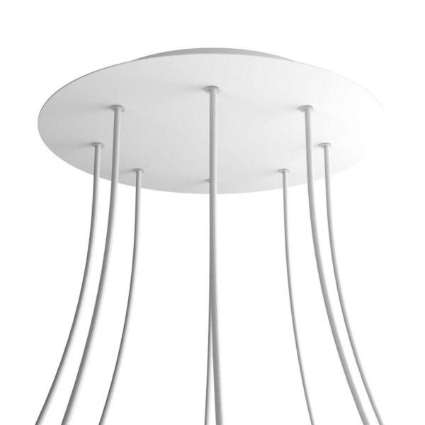 XXL Okrúhla kovová stropná rozeta s priemerom 40 cm a 8 otvormi