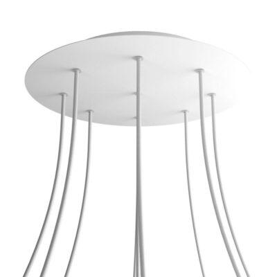 XXL Okrúhla kovová stropná rozeta s priemerom 40 cm a 9 otvormi