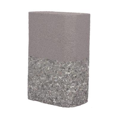 Handmade E27 objímka v tvare obdĺžnika v cementovo šedej farbe