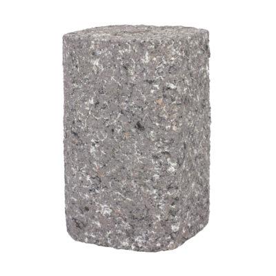 Handmade E27 objímka v tvare štvorcového kvádra v šedej farbe