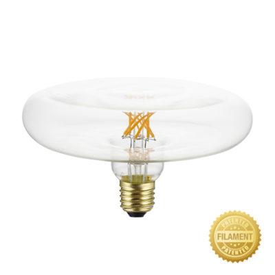 Priehľadná LED žiarovka - DASH D170, 6W, E27, 500lm, 2700K, Teplá biela, Stmievateľná