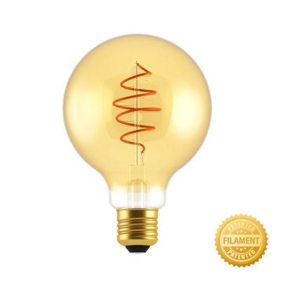 Zlatá LED žiarovka - CROISSANT SHINES - 5W, E27, Stmievateľná, 2000K, 250lm copy