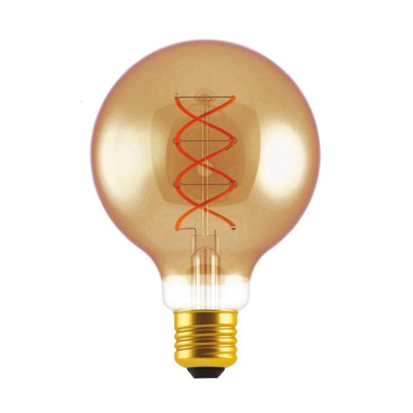Zlatá LED žiarovka - GLOBUS - 5W, E27, Stmievateľná, 2000K, 250lm   Daylight Italia