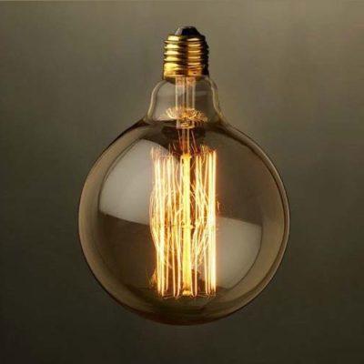 EDISON žiarovka - GLOBUS - E27, 40W, 120lm, číre sklo