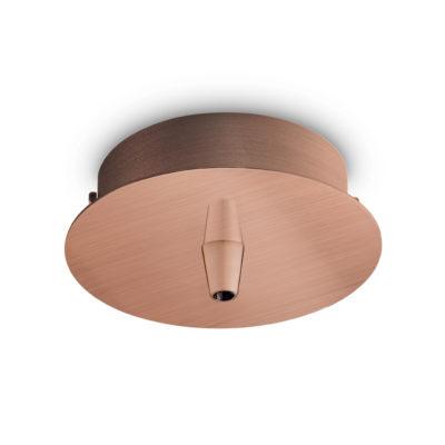 Kovová stropná rozeta pre 1 svietidlo, okrúhla v medenej farbe | Ideal Lux