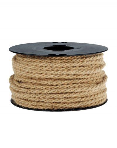 Kábel trojžilový v podobe retro lana, 3 x 0.75mm, 1 meter