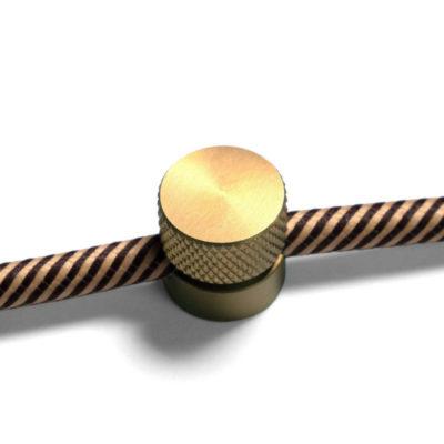 Kovová nástenná fixácia pre textilný kábel - Brúsená bronzová farba