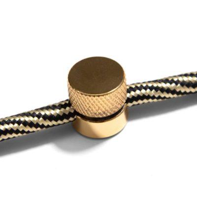 Kovová nástenná fixácia pre textilný kábel - Mosádzna farba