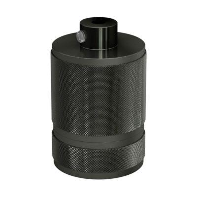 Mohutná objímka z hliníkovej zliatiny E27 vhodná pre použitie tienidla • Gunmetal