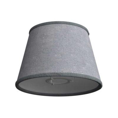 Látkové tienidlo s priemerom 20cm v šedej jutovej farbe