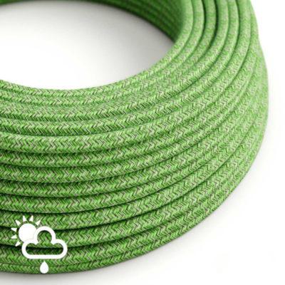 Kábel do exteriéru dvojžilový v podobe textilnej šnúry so vzorom, Pixel, 2 x 1mm, 1 meter