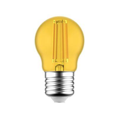 LED žiarovka Globetta E27, 1.4W, 80lm, Žltá | Daylight Italia