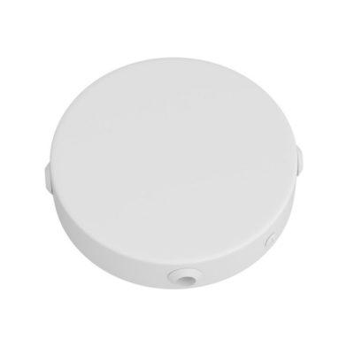 Mini stropný držiak so 4 bočnými otvormi, 8cm, kov, biela farba