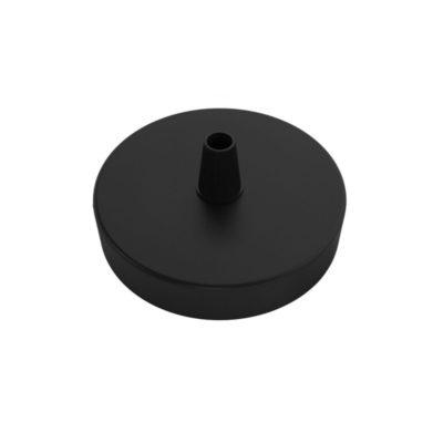 MINI čierny stropný držiak pre 1 svietidlo, 8cm, kov,