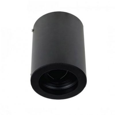 Povrchová montáž okrúhla čierna s možnosťou orientácie pre bodové žiarovky GU10 : GU5.3.