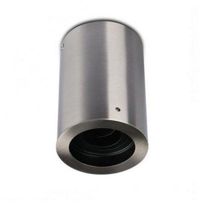 Povrchová montáž okrúhla niklová s možnosťou orientácie pre bodové žiarovky GU10 : GU5.3