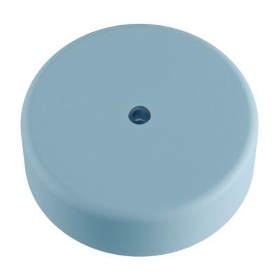 Exteriérový stropný držiak z mäkkého silikónu s krytím IP65 v pastelovej modrej farbe