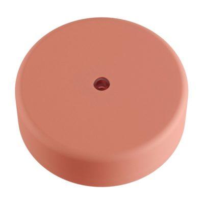 Exteriérový stropný držiak z mäkkého silikónu s krytím IP65 v pastelovej ružovej farbe