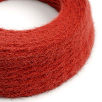 Kábel dvojžilový skrútený s chlpatým efektom v červenej farbe, 2 x 0.75mm, 1 meter