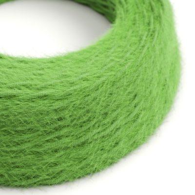 Kábel dvojžilový skrútený s chlpatým efektom v zelenej farbe, 2 x 0.75mm, 1 meter