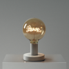 Biela kovová stolná lampa so zrkadlovou LOVE | Daylight Italia
